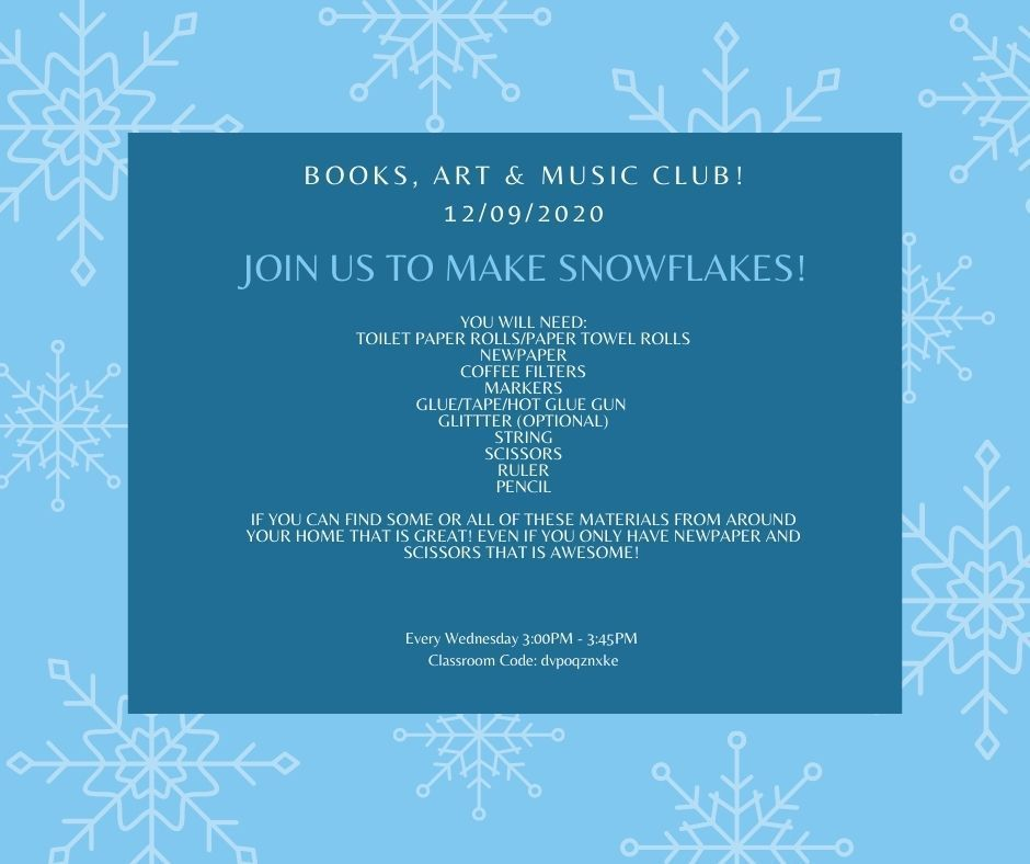 Join Us To Make Snowflakes!