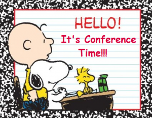 Peanuts Conference Sign