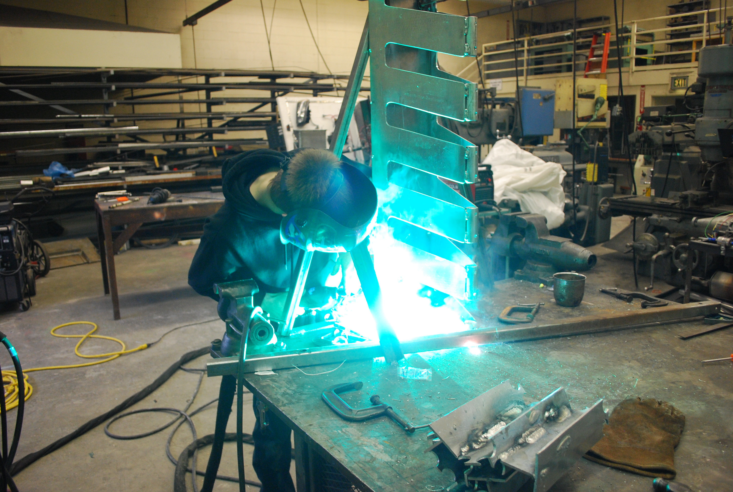 Welding in the manufacturing lab