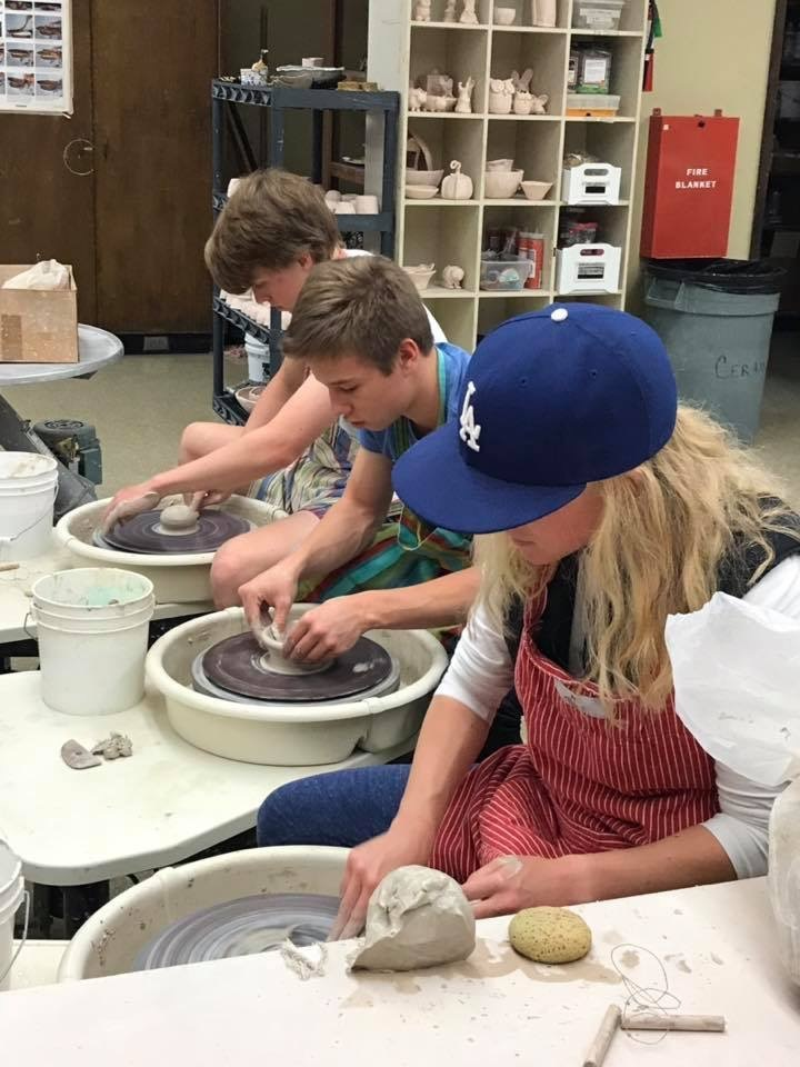 Pottery Class Students